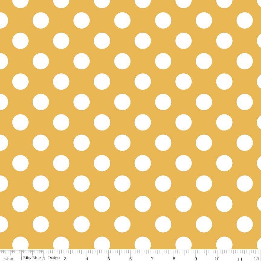 Mustard Medium Dots - Riley Blake Designs C360-66
