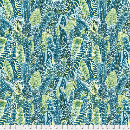 Farmyard Feathers - Teal - PWSL070