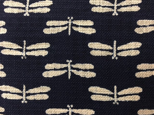 Japanese Woven - Indigo Dragon Flies