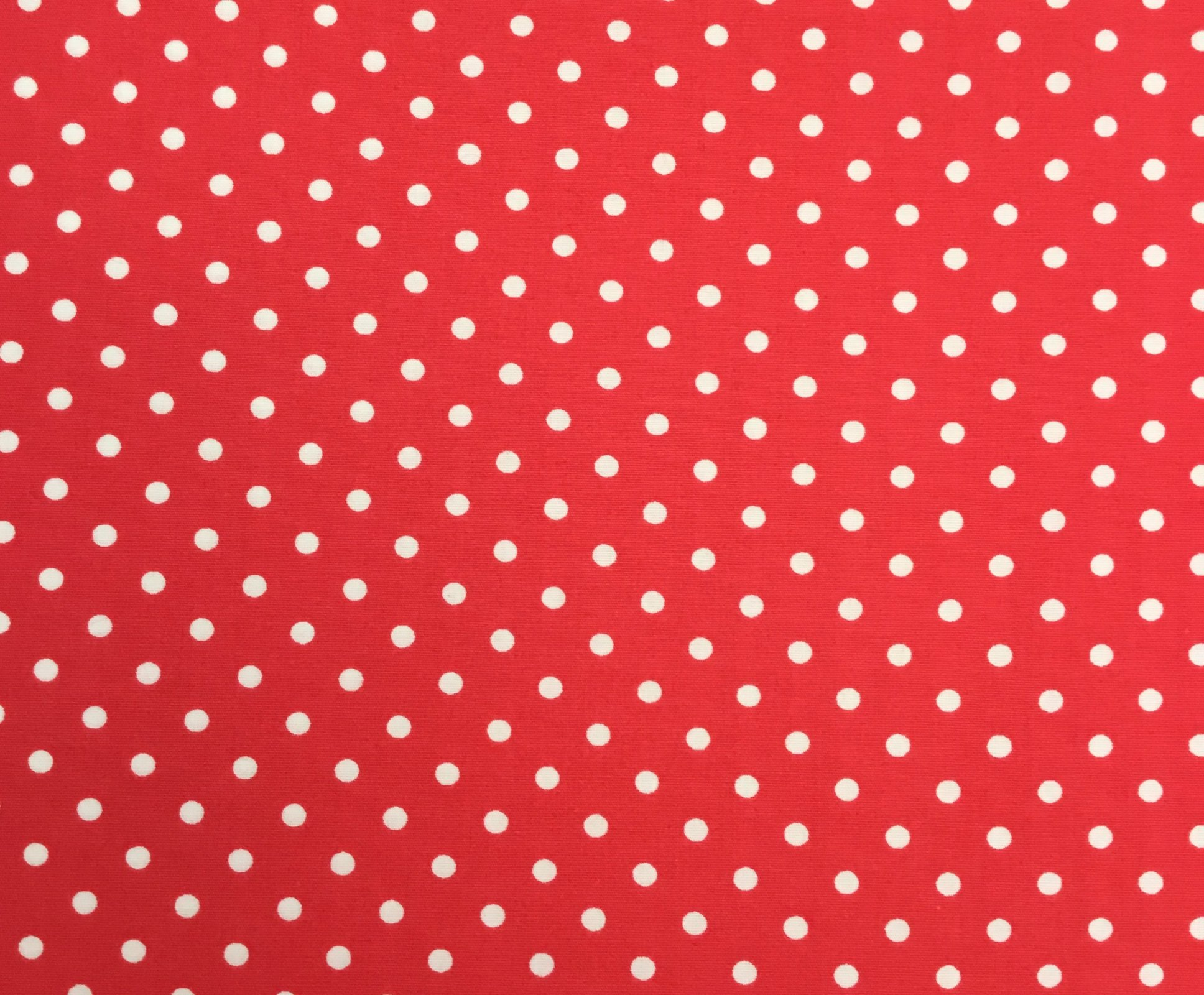 Adaman Coast - Red Pepper - White Dots on Red