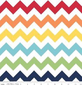 Riley Blake Designs Medium Chevron Rainbow