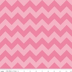 Riley Blake Designs Medium Chevron Tone on Tone Hot Pink