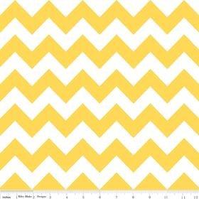 Riley Blake Designs Medium Chevron Yellow