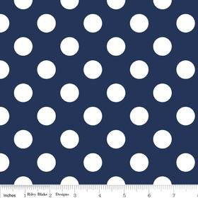 Riley Blake Designs Medium Dots Navy