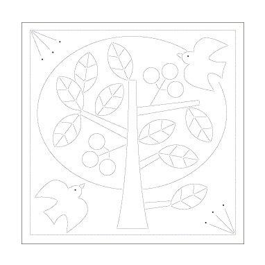 Sashiko Sampler Hana Fukin -peace tree