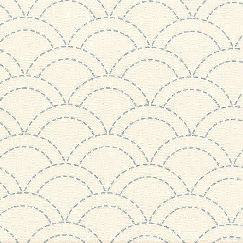 Sashiko Single Stitch -Waves Off White No 7