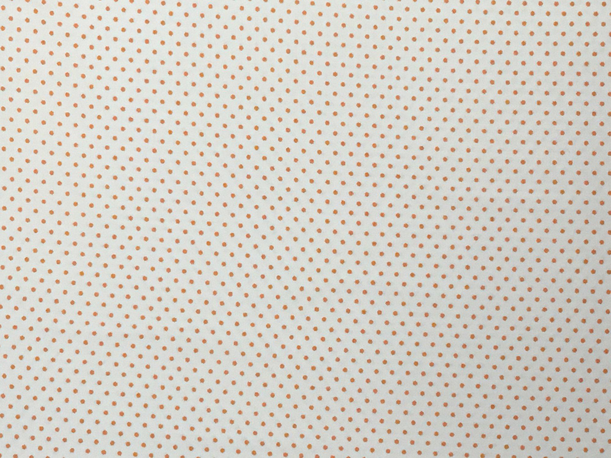Adaman Coast - Tropical Papaya - Orange Microdot on white