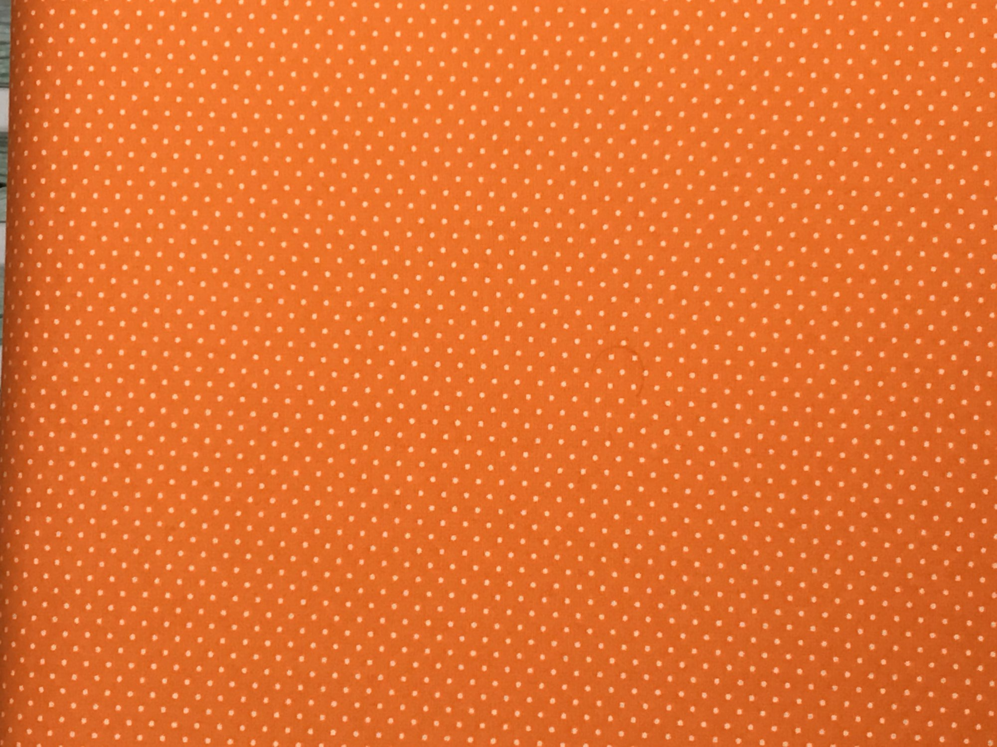 Adaman Coast - Tropical Papaya - White Micro Dot on Orange