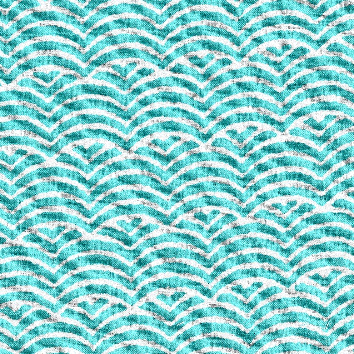Umbrella Prints Elephants Love Water - Waves in Bakelite Blue