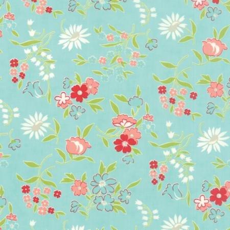 Vintage Picnic - Aqua Floral-5512512