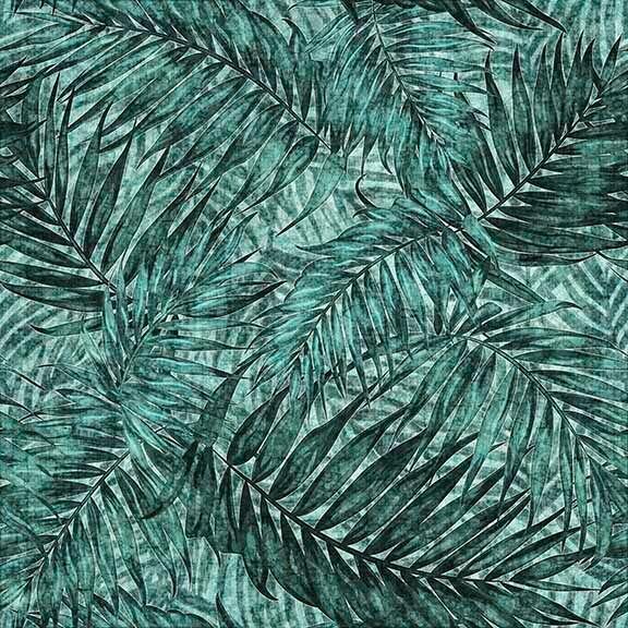 Caravan - Palm Leaves - Teal