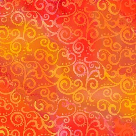 Ombre Scroll Tangerine