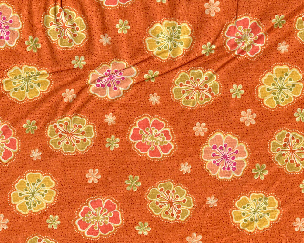 Willow Orange Flower by Ink & Arrow