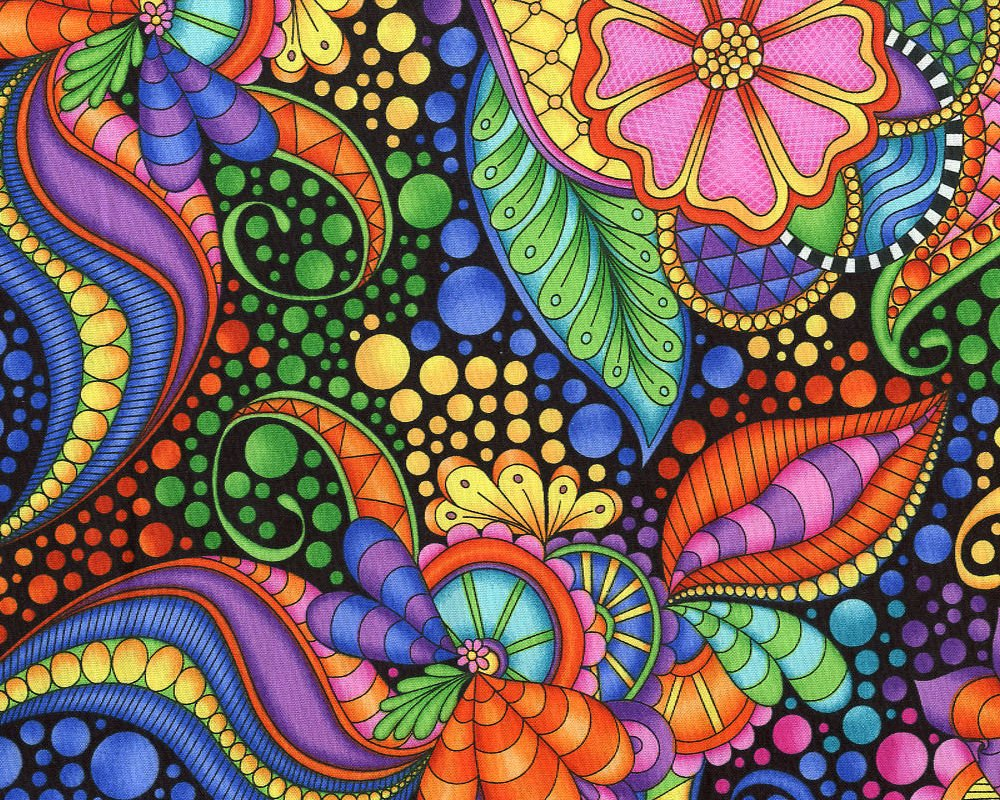 Carnivale-Floral Geometic