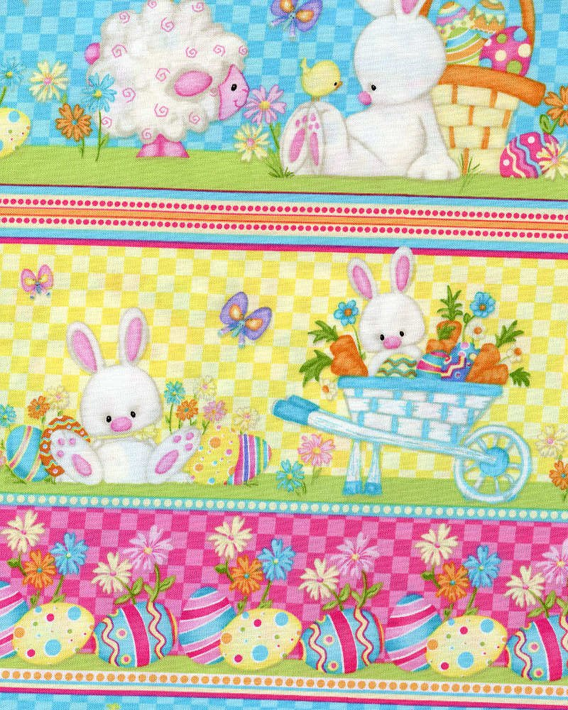 Hop to It Border Fabric