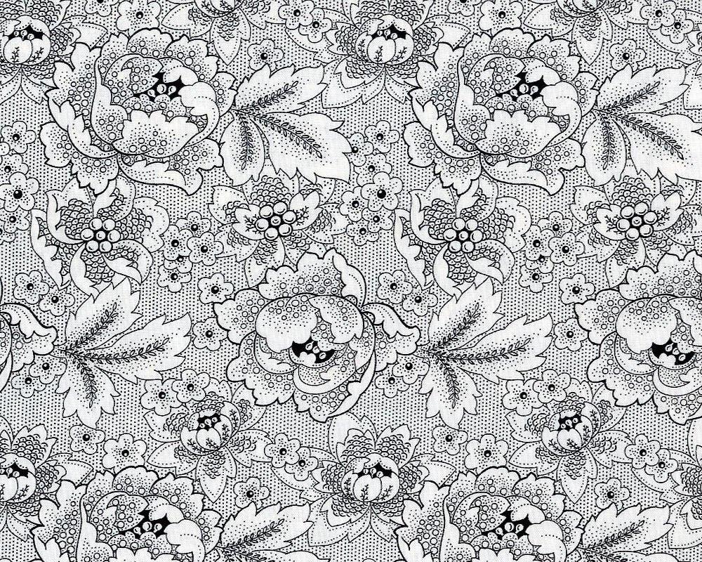 Antiquities Black & White Flowers