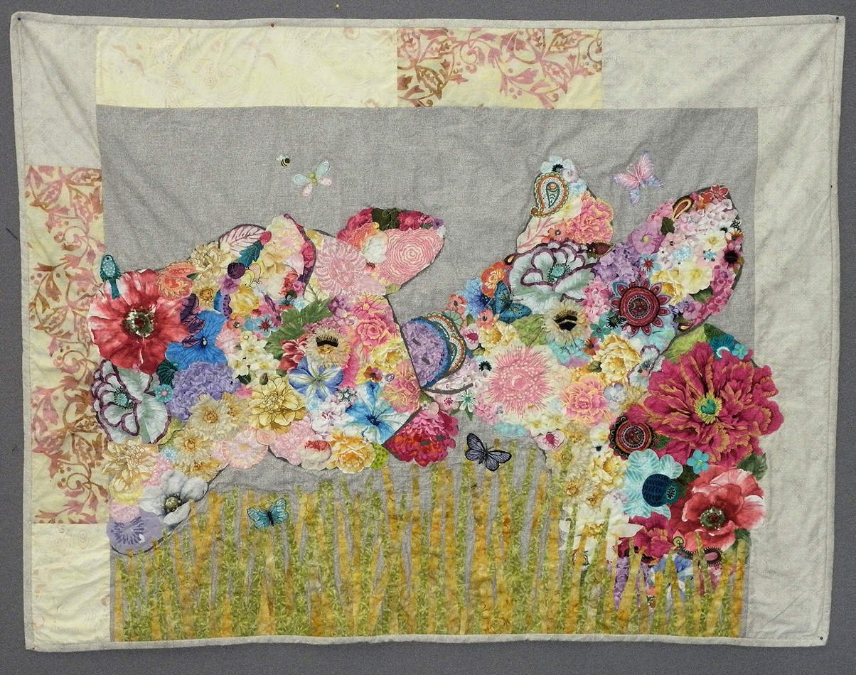 animal collage quilt