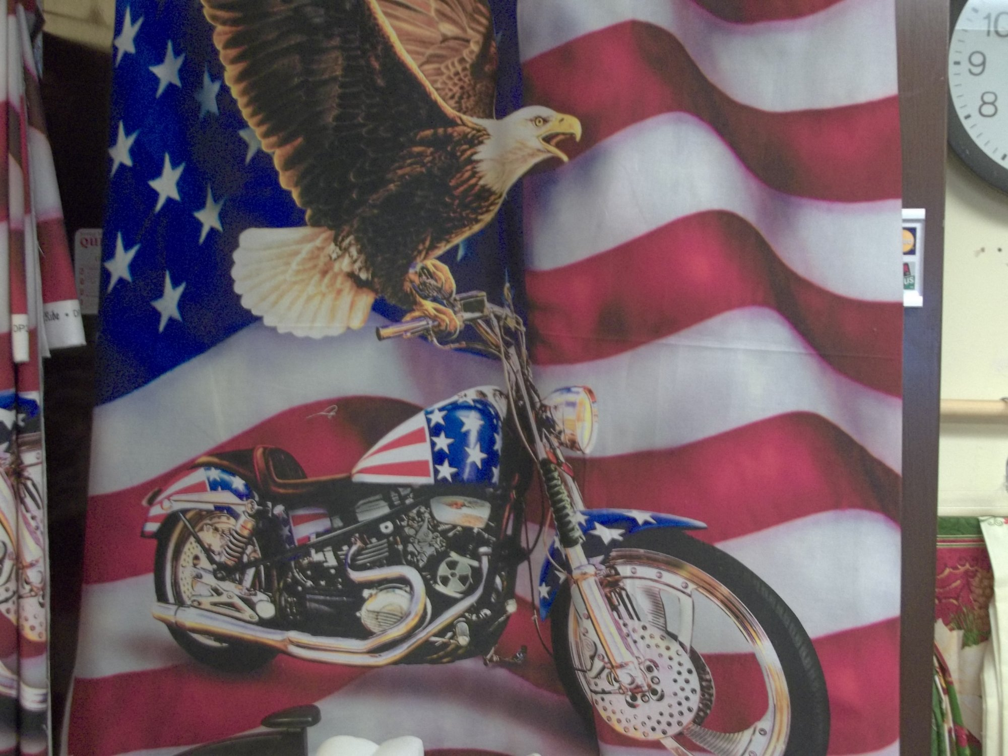 EAGLE & BIKE FLAG