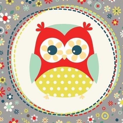 ADORNit Owl Polka Dot Mint