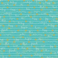 Adornit Gigi Blooms Happy Notes Lagoon
