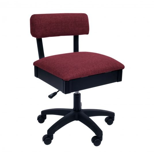 Arrow Hydraulic Sewing Chair - Red or Gray