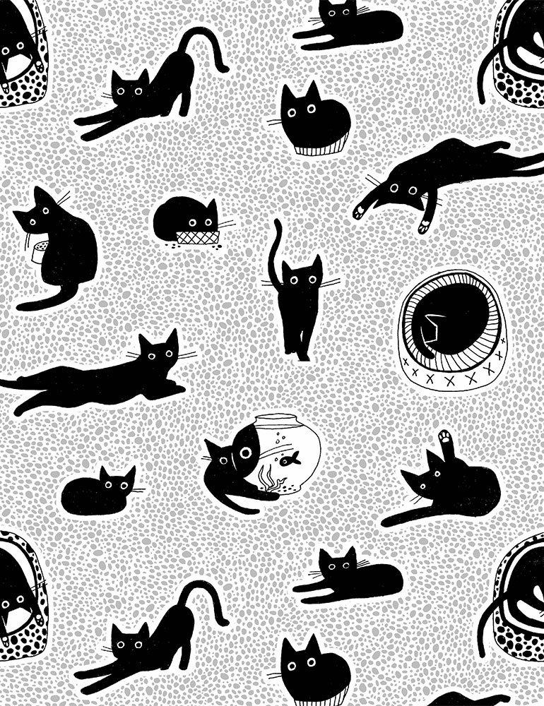 Les Chats Noirs Chillin White