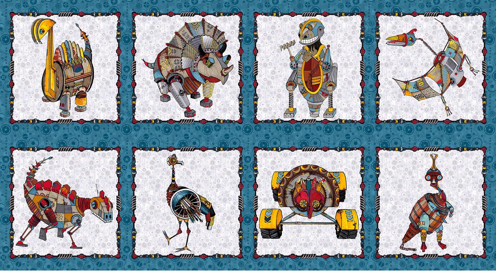 Dino Punk Blocks Panel 24 x 42
