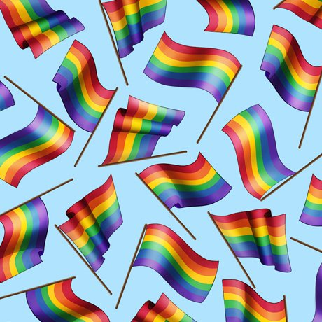 This & That 2 Rainbow Flags Blue