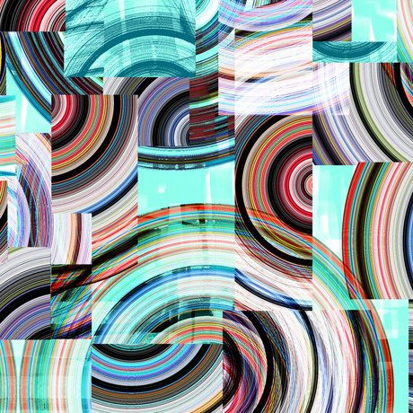 Transcendence Geo Collage Turquoise