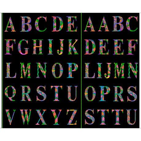 Alpha Doodle Alphabet Panel Black