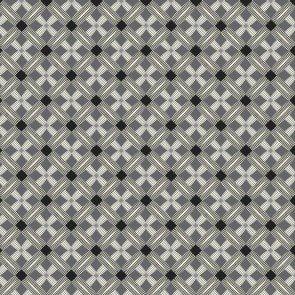 Bubble Grid Crosshatch Black