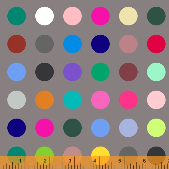 Many Colored Dots Digital 108 Grey/Multi