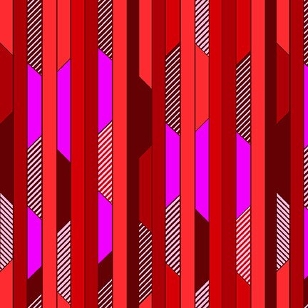 All Lined Up Diagonal Blocks Stripe Red/Purple
