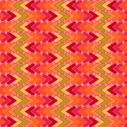 All Lined Up Chevron Red/Orange