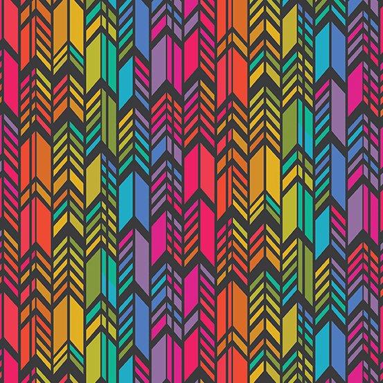 Art Theory Rainbow Feather Night
