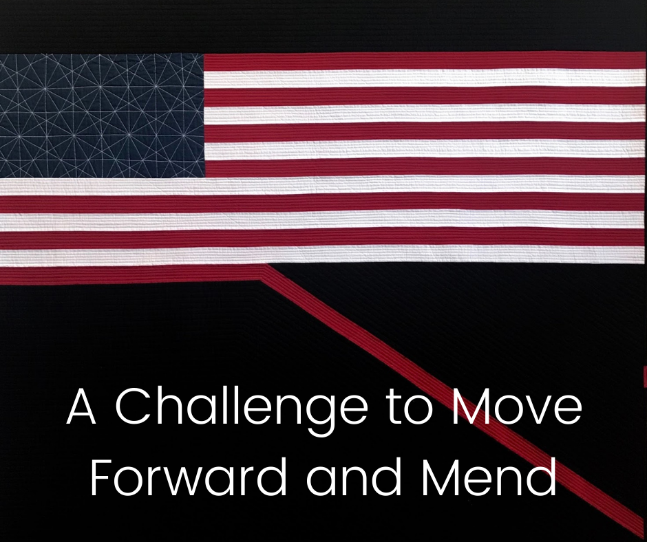 A Challenge to Move Forward and Mend - Blue Bar Quilts Challenge
