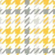 Cozy Cotton Flannel Houndstooth Yellow