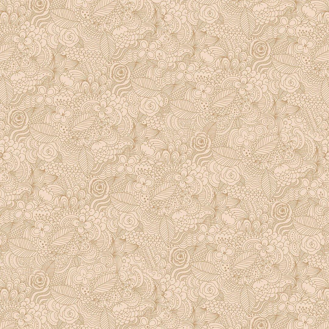 Tranquil 108 Flannel Geometric Linework Beige