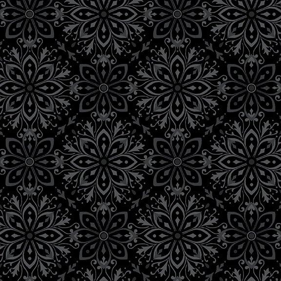 Tranquil 108 Flannel Large Medallion Black