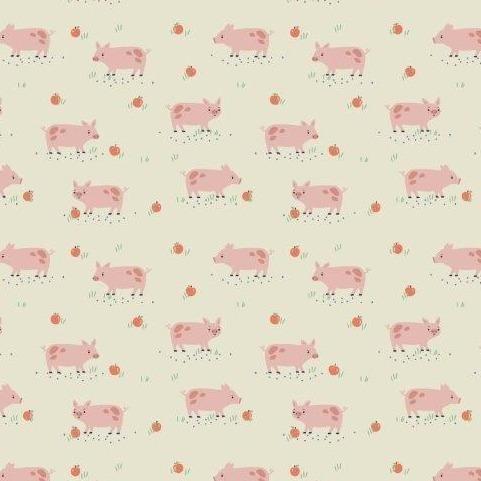 Farm Days Pigs Ecru