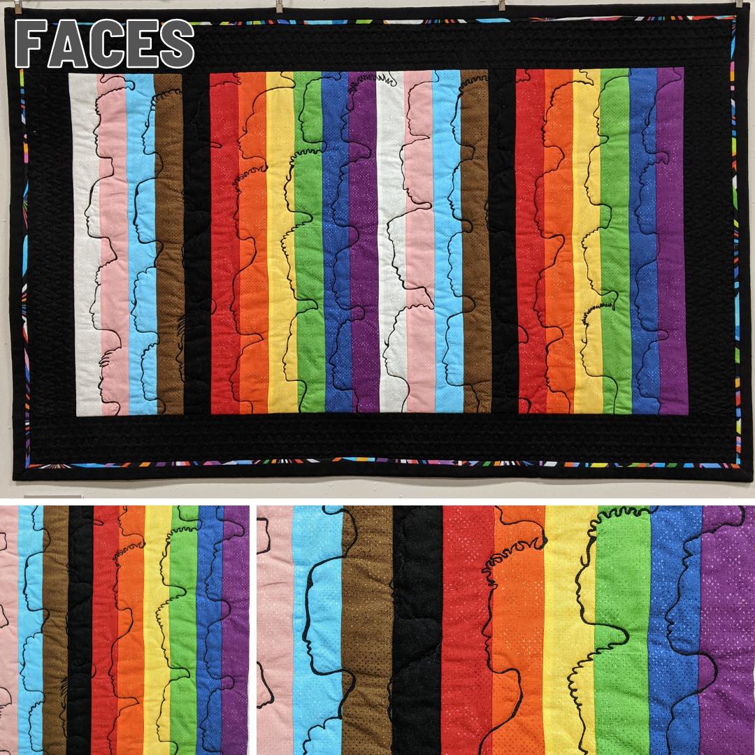 Fiber Art Fundraiser - Faces