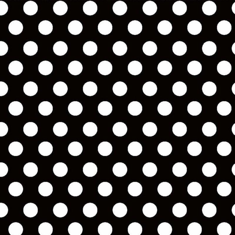Fun Flannels 2 Dots Blk/Wht