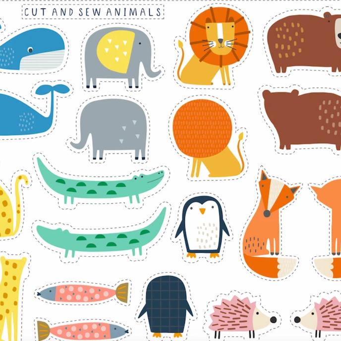 Habitat Cut & Sew Animal Panel