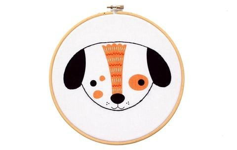 Hoop Art Embroidery Kit - Puppy
