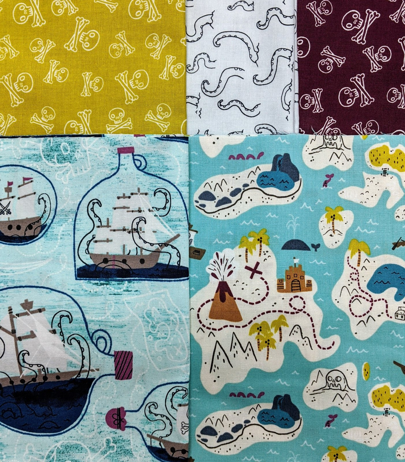 Bundle Kraken 5 Half Yard Cuts