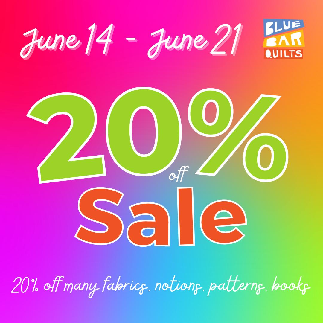 Get 20% off June 14-21, 2021