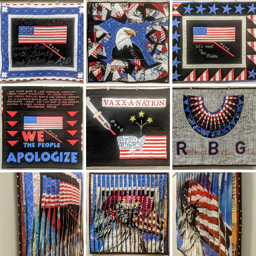 Jacquie Gering's Mend Quilt Challenge Entries at Blue Bar Quilts