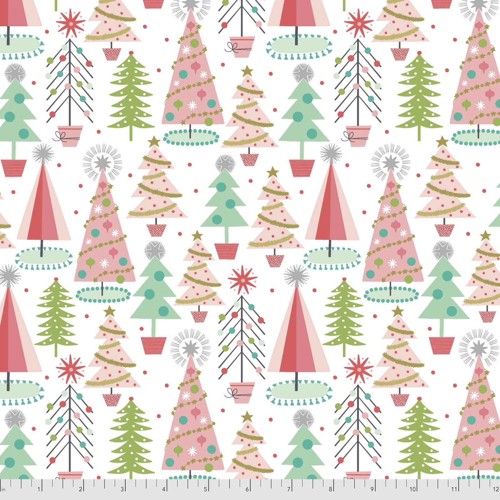Fa La La Christmas Spruces White