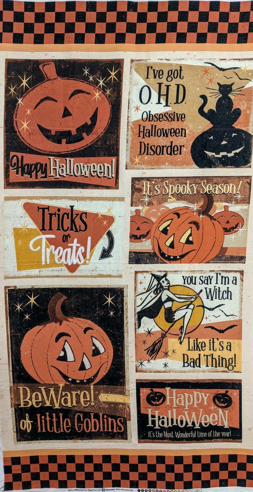 Retro Halloween Panel Multi