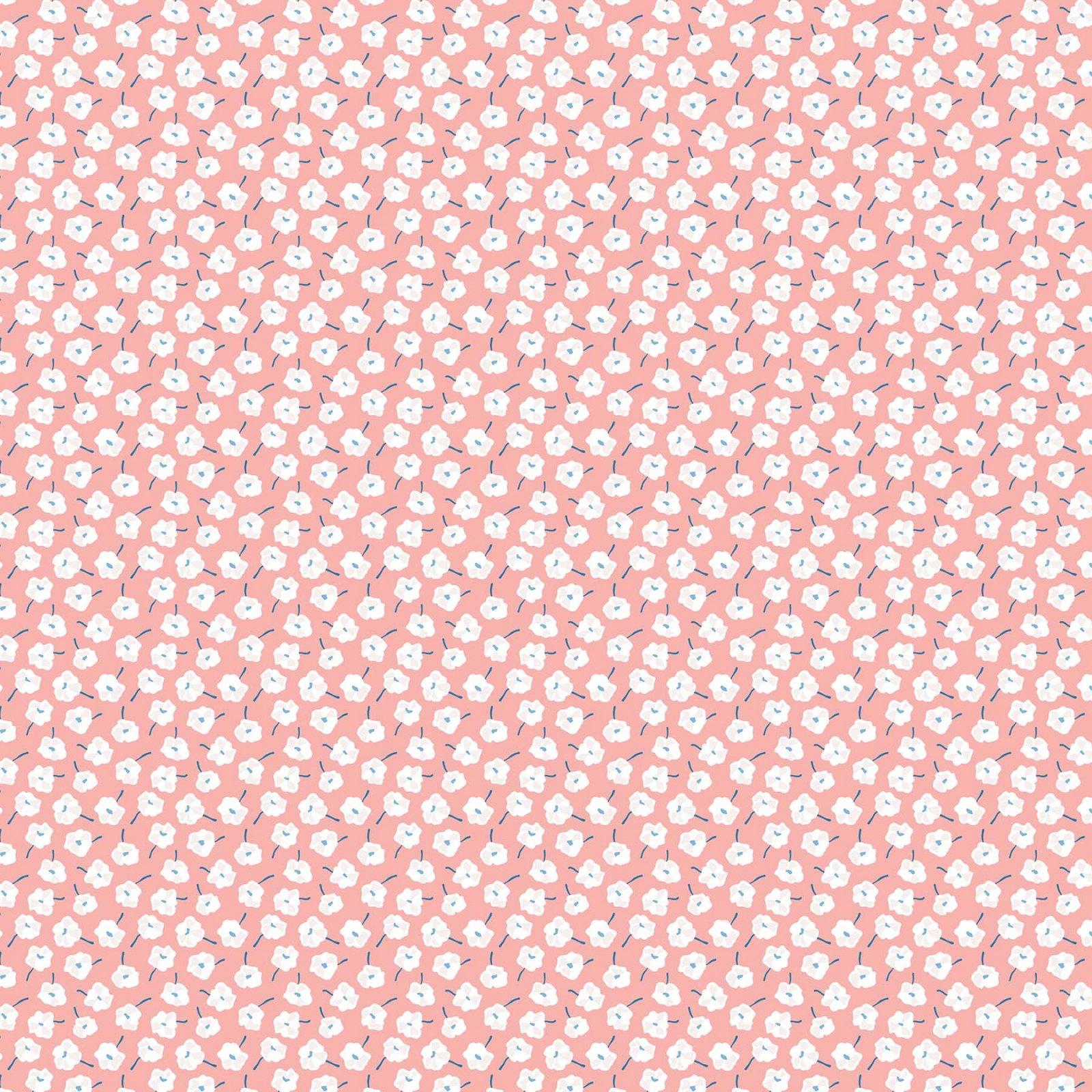 Rollakan Rayon Small Floral Blush Pink